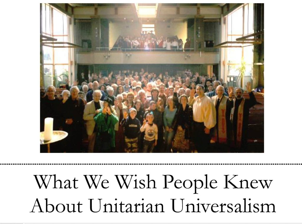"Title page ""What We Wish People Knew About UUism"""
